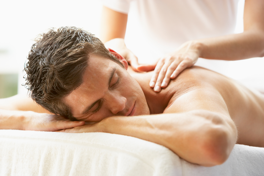 Young Man Enjoying Massage, Big Toe Studio Massage Therapy, Fort Collins, CO